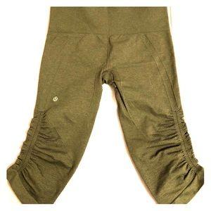 Army green lulu lemon leggings